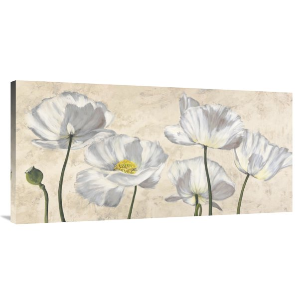 Global Gallery S Poppies In White By Luca Villa Stretched Canvas Wall Art Walmart Com Walmart Com