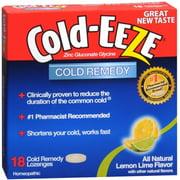 COLD-EEZE Lozenges Natural Lemon Lime 18 per box (Pack of 3)