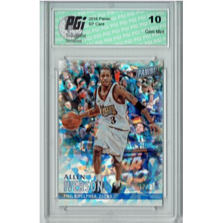 Allen Iverson 2016 Panini #41 Cracked Ice SP, Only 25 Made Card PGI