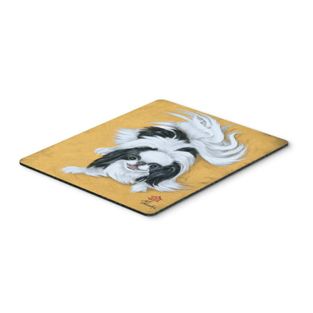 Japanese Chin Black White Play Mouse Pad, Hot Pad or Trivet MH1034MP