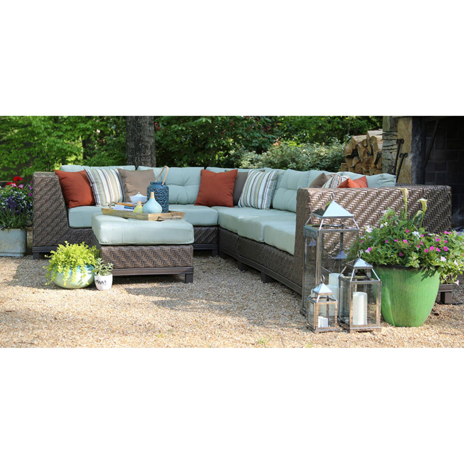 AE Outdoor Dawson 7 Piece Sectional Conversation Set