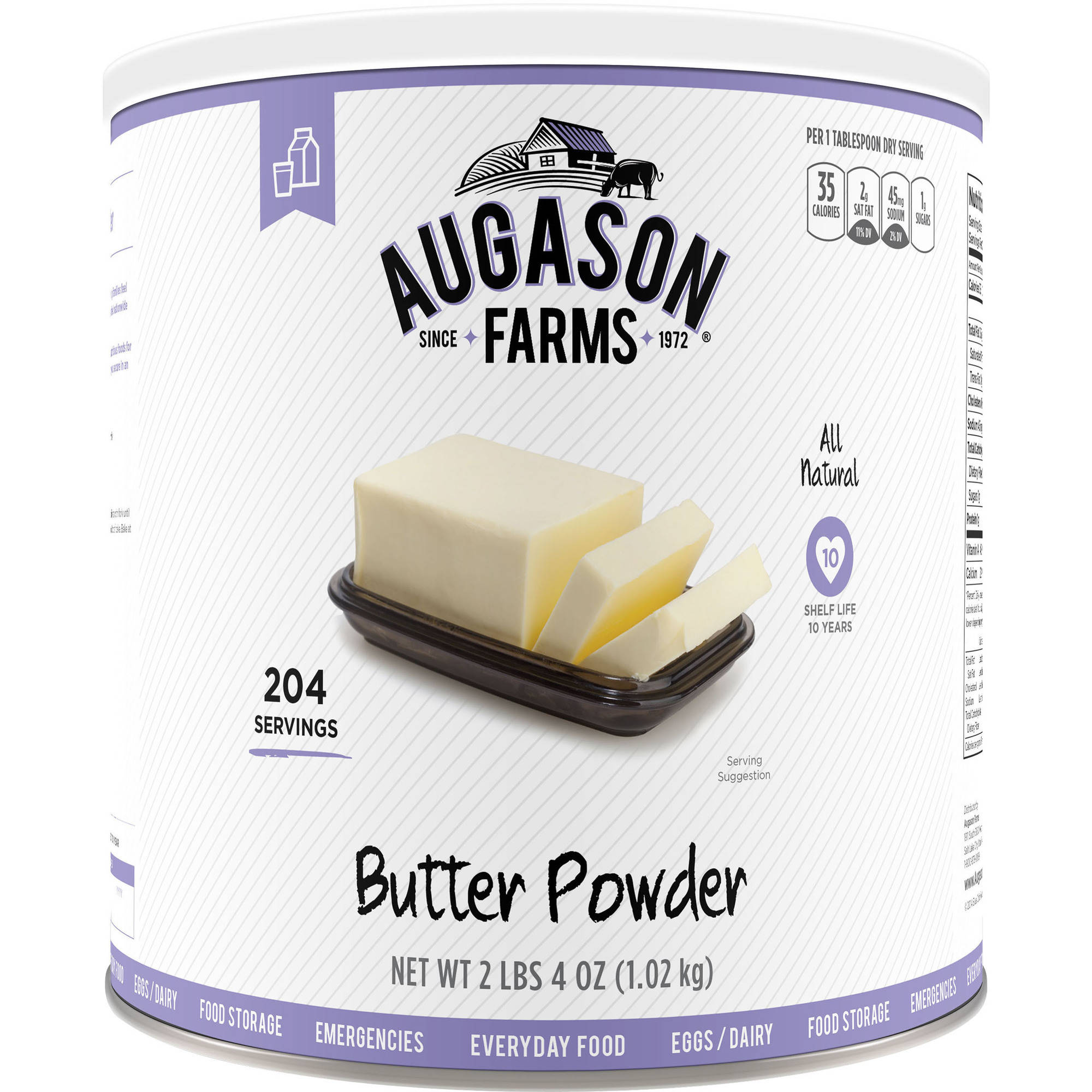 Augason Farms Emergency Food Butter Powder, 36 oz