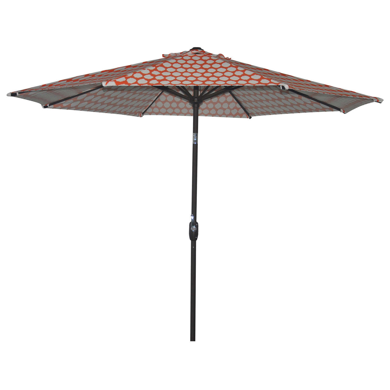 Better Homes and Gardens 9' Printed Market Umbrella, Ikat Coral by NINGBO EVERLUCK OUTDOOR PRODUCTS MANUFACTING CO LTD