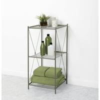 Product Image Zenna Home 3-Tier Floor Shelf, Satin Nickel