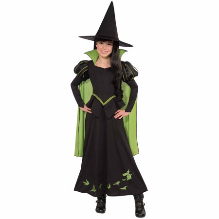 Wizard of Oz Wicked Witch of The West Child Halloween Costume - Black Cat Witch Halloween Costume