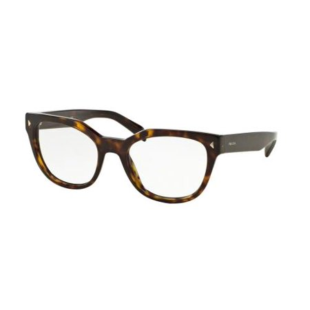 PRADA Eyeglasses PR21SV 2AU1O1 Havana (Prada Red Eyeglass Frames)