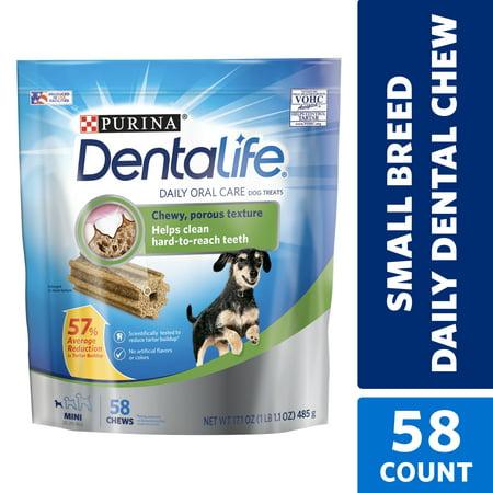 Purina DentaLife Toy Breed Dog Dental Chews, Daily Mini - 58 ct.