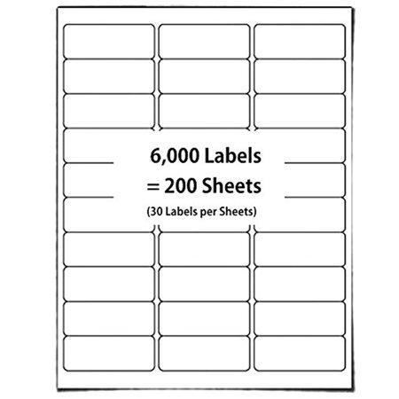 Adress Up (The Elixir Packaging [200 Sheet, 6000 Labels] FBA Name Address Labels 2-5/8 x 1 Inches, 30 UP - White Self Adhesive Bar Code Shipping)