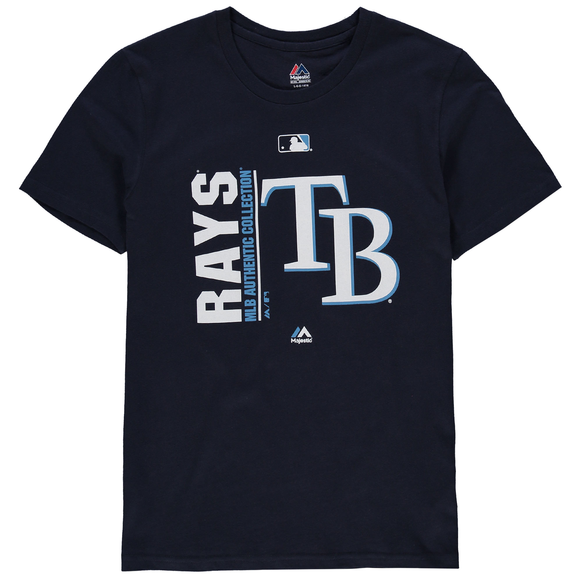 Tampa Bay Rays Majestic Youth Authentic Collection Team Icon T-Shirt - Navy