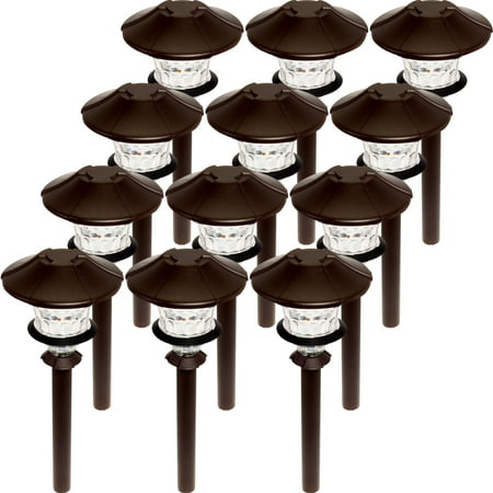 12 Pack PARADISE Low Voltage LED 0.75W 12V Aluminum Path Light Copper 12v Ac Path