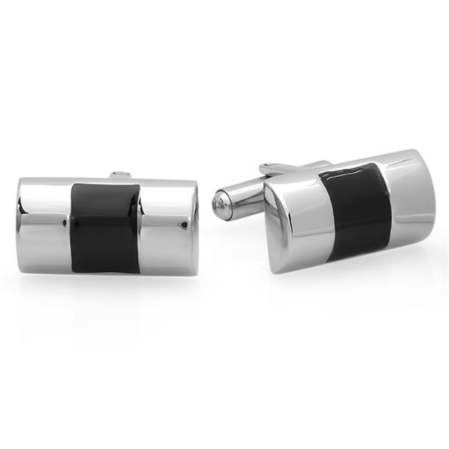 Mens Stainless Steel Sqaure Cuff Links