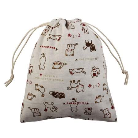 Cat Pattern Protable Sundries Storage Wedding Gift Pouch Drawstring Bag (Drawstring Bag Patterns)