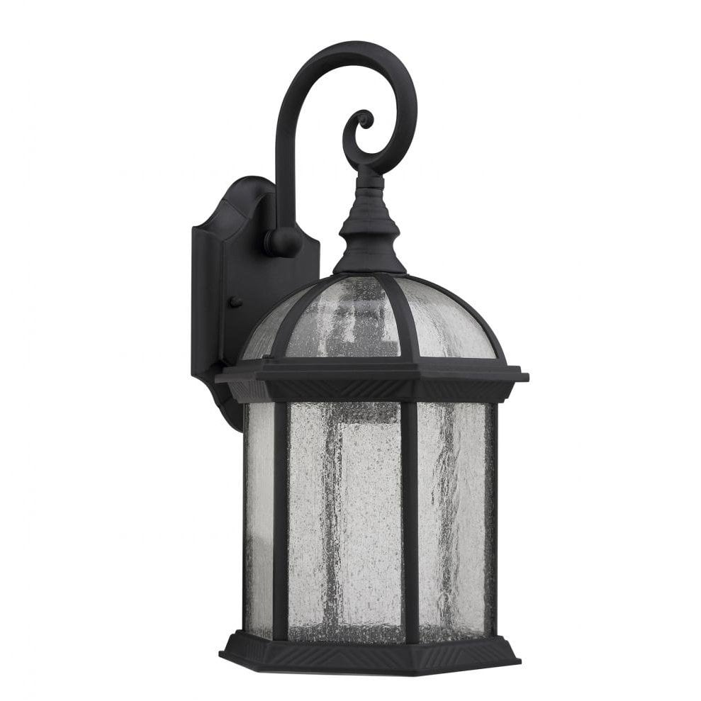 Chloe Lighting Transitional Black / Clear Seeded Glass 1-light Outdoor Fixture