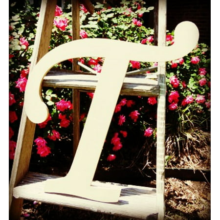 Unfinished DIY Letter Decor, 12'' Monotype T,  Wooden Alphabet Letter ()