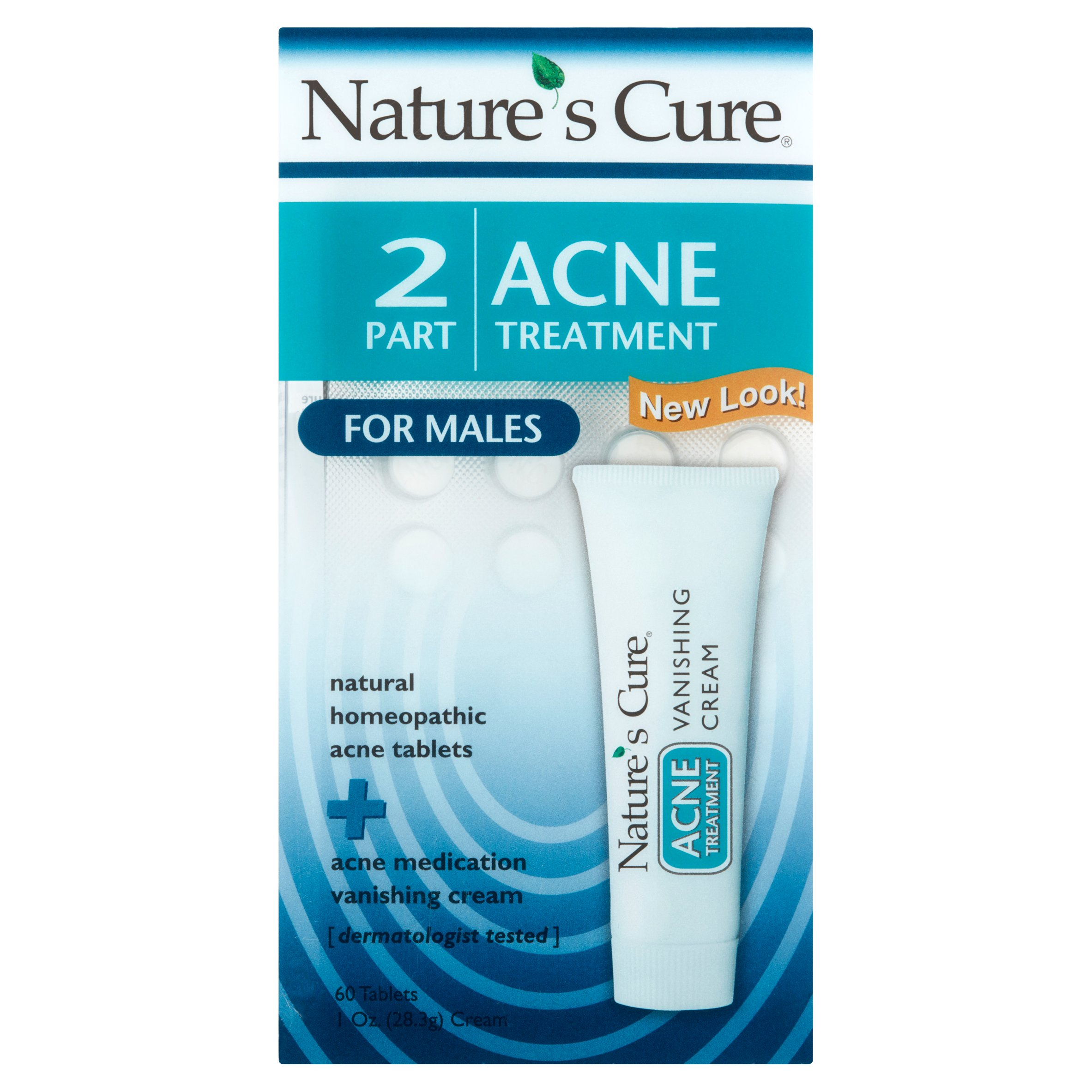 Nature's Cure 2 Part Acne Treatment for Males