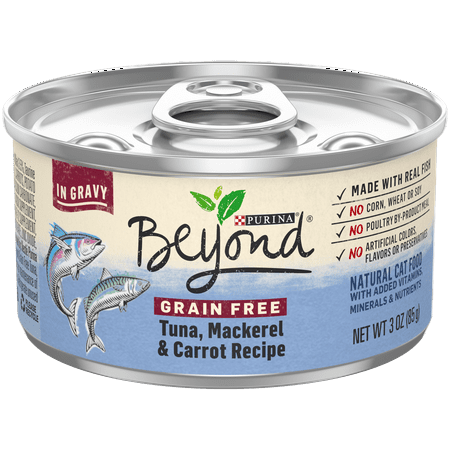 Purina Beyond Grain Free, Natural Gravy Wet Cat Food, Grain Free Tuna & Mackerel Recipe - (12) 3 oz. (Best Gravy For Lamb)