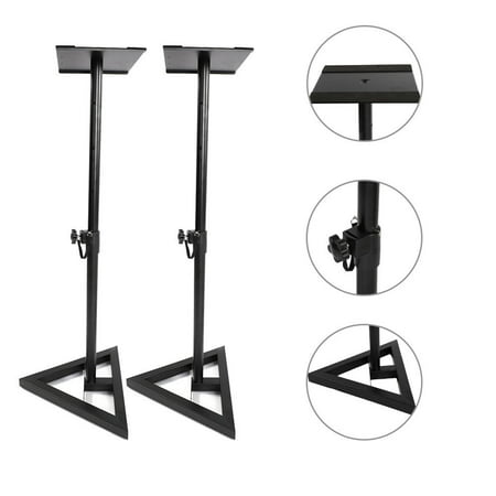 Zimtown A Pair of Universal Heavy Duty Adjustable Studio Monitor Speaker (Best Knox Speaker Stands)