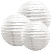 LumaBase Multi Size Paper Lanterns - Set of 6