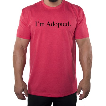 6bab5470d9c9a I'm adopted -Family Reunion Men's T-shirts - Heather Red MH200FAM S65 3XL