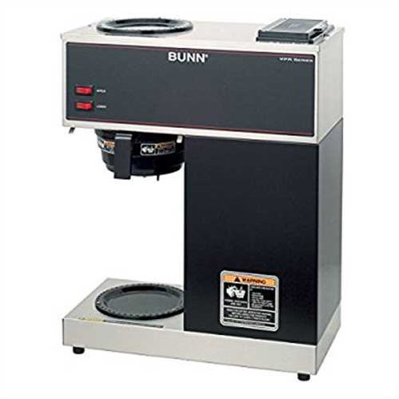 Refurbished Bunn Commercial Coffee Maker Vpr Pourover With 2 Warmers - Black - 33200-0000