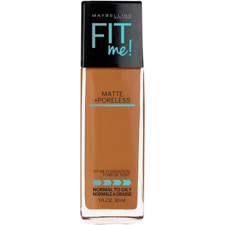 Maybelline New York Fit Me Matte + Poreless Foundation, Warm (50's Style Makeup)