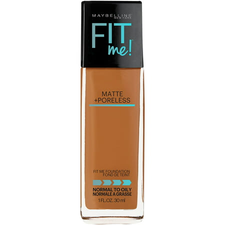 Maybelline New York Fit Me Matte + Poreless Foundation, Warm - Protec Medium Matte