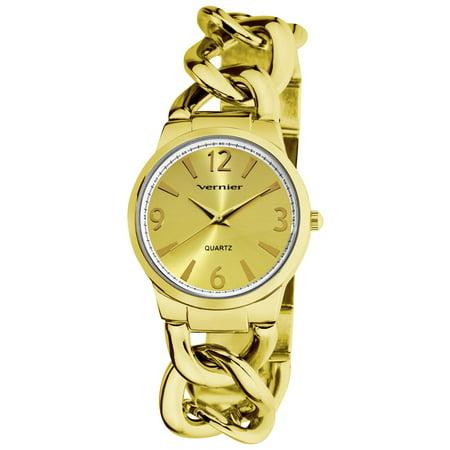 Women's Fashion Gold Tone Oversized Link Watch ()