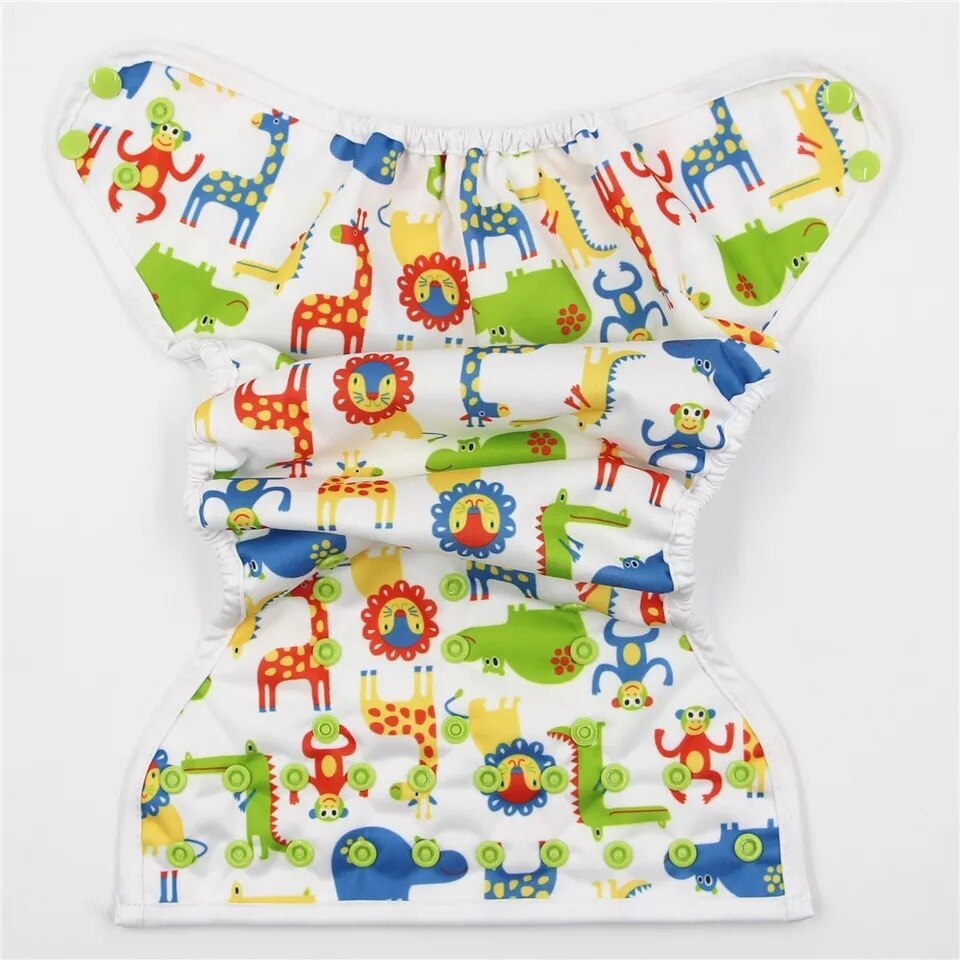 KaWaii One Size Diaper Covers /& Prefold Diapers Set 6 covers + 4 dozen prefold