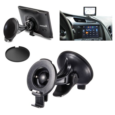 EEEKit for GARMIN NUVI 2597 LMT 42 44 52 54 55 LM, Car GPS Suction Cup Mount Holder, Adhesive Disk (Pod Mount)