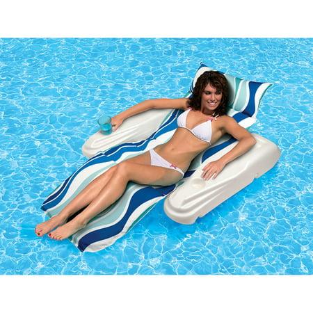 Poolmaster Vinyl Currents Rio Sun Adjustable Chaise Pool Float,