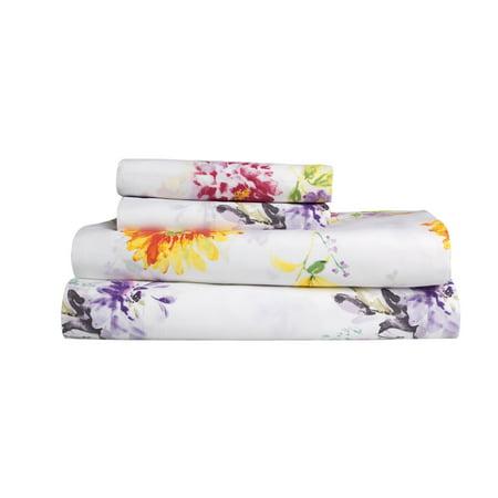 Mainstays 200 Thread Count Floral Print Sheet Set