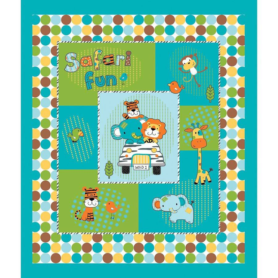 Safari Fun Fusible Applique Quilt Kit