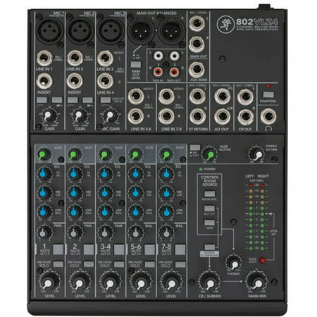 - Mackie 802VLZ4 8-Channel Compact Mixer