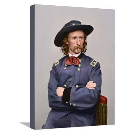 Civil War Portrait of Major General George Armstrong Custer Stretched Canvas Print Wall Art By Stocktrek Images