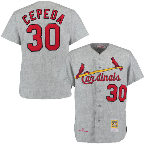 Men's Mitchell & Ness 1967 Orlando Cepeda Gray St. Louis Cardinals Authentic Throwback Jersey