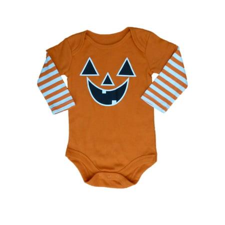 My Halloween Infant Boys & Girls Orange Jack-O-Lantern Pumpkin Creeper (Halloween Girl To Boy)