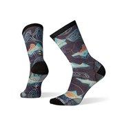 Smartwool Men?s Curated Crew Socks - Arctic Life Print, Ultra Lightly Cushioned Merino Wool Performance Socks