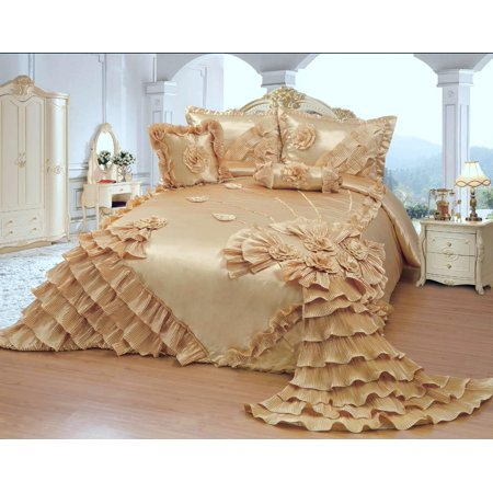 OctoRose Royalty Oversize Wedding Birthday  Bedding Bedspread Comforter Set ()