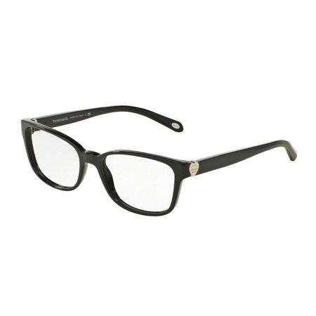 40868c6b0dcd Tiffany Optical 0TF2122 Full Rim Cat Eye Womens Eyeglasses - Size 52 (Black    Clear Lens) - Walmart.com