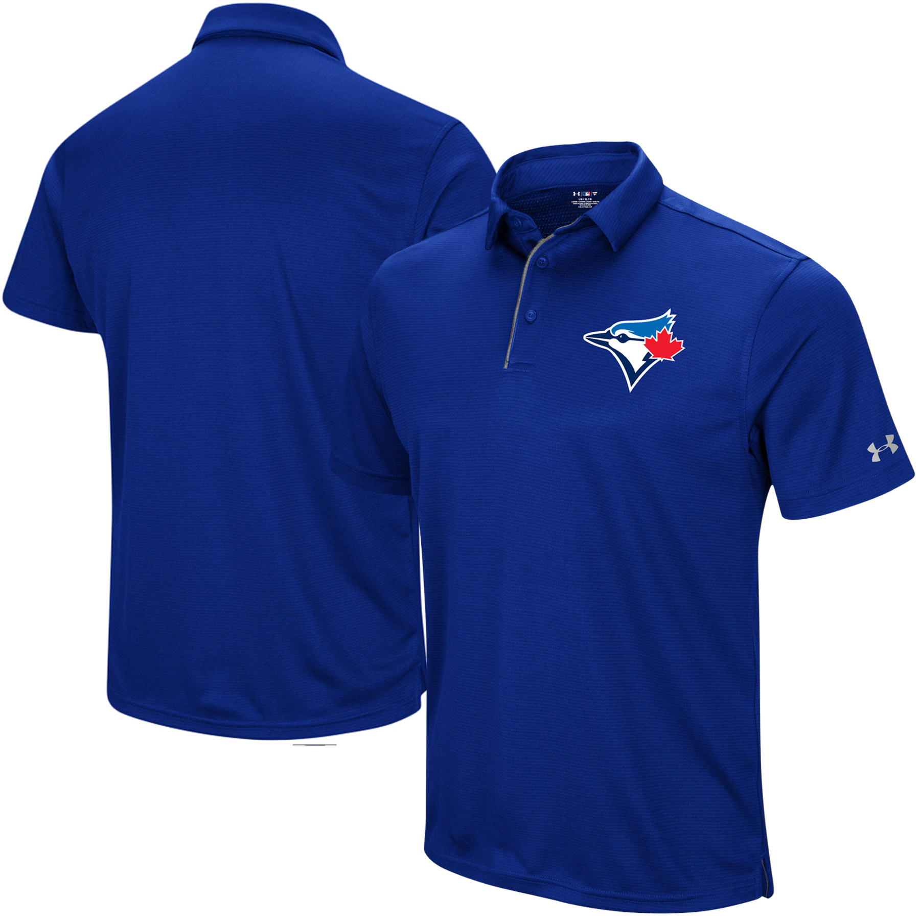 Toronto Blue Jays Under Armour UA Tech Left Chest Polo - Royal