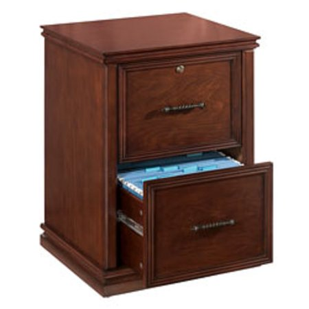 realspace premium wood file cabinet 2 drawers 30 h x 21 w x 18 9 10 d dark cherry. Black Bedroom Furniture Sets. Home Design Ideas