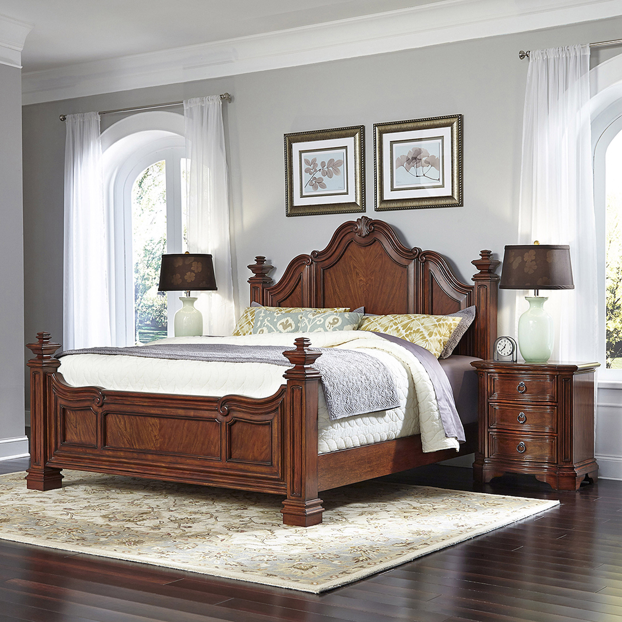 Home Styles Santiago King Bed and 2 Night Stands