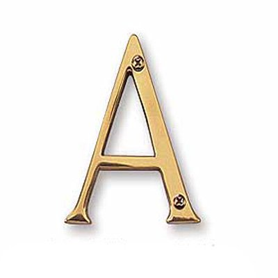 Salsbury Solid Brass Letter
