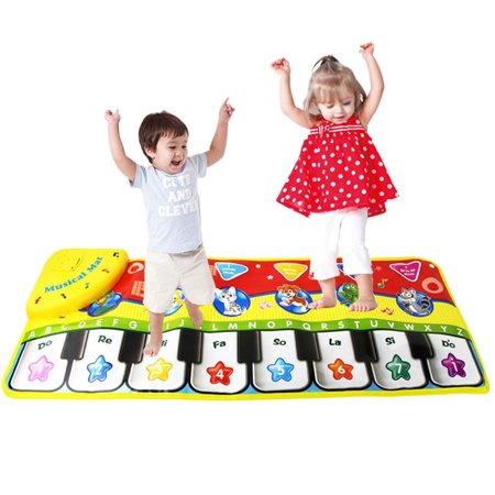 Coolplay Baby Musical Play Mat for Babies Blanket Kid Toy, Play Mini Piano Mat, Keyboard Touch Gyms & Playmats Learn Singing Carpet Mat (Gigantic Keyboard Playmat)