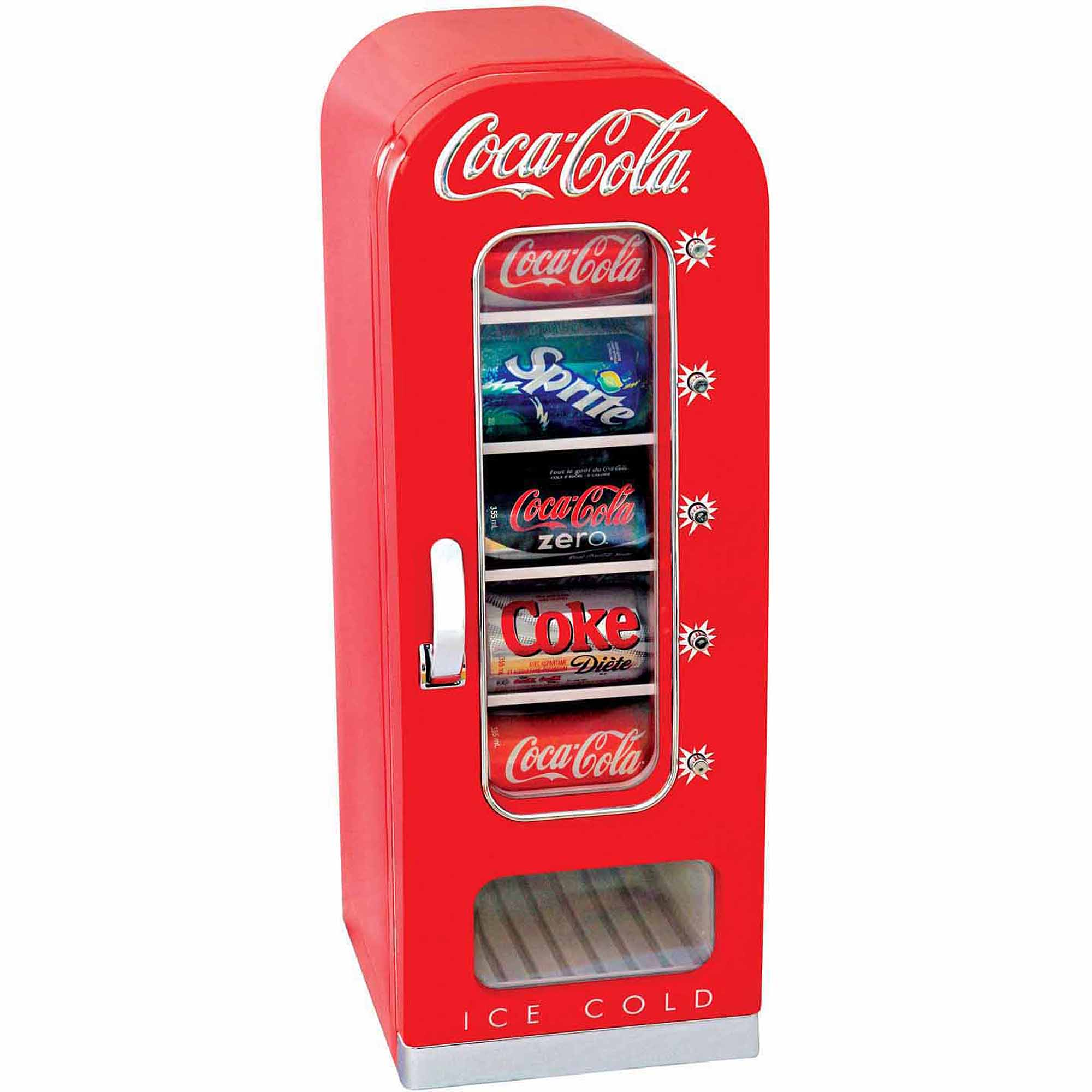 Coca Cola 10-Can Retro Vending Fridge for Home, Office, Car or Boat