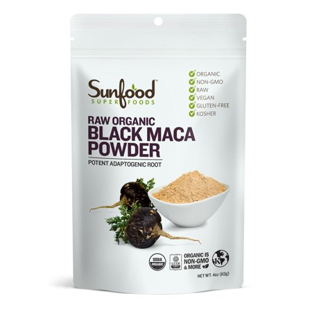 Sunfood Superfoods Organic Black Maca Powder, 4.0