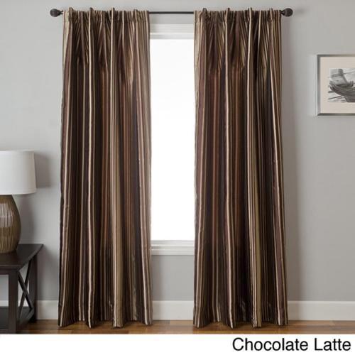 Softline Elton Stripe Jacquard Back Tab Curtain Panel