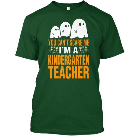 Halloween You Cant Scare Me A Kindergarten Teacher Tshirt Hanes Tagless Tee - Short Halloween Poems For Kindergarten