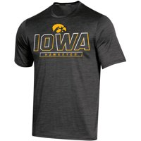 Men's Russell Athletic Black Iowa Hawkeyes Synthetic Impact T-Shirt