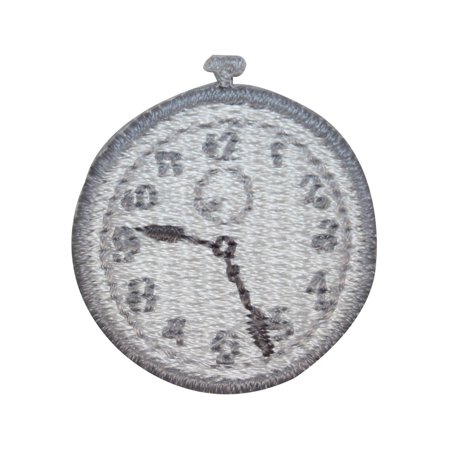 ID 3211B Pocket Watch Patch Old Wind Up Time Watch Embroidered Iron On Applique ()
